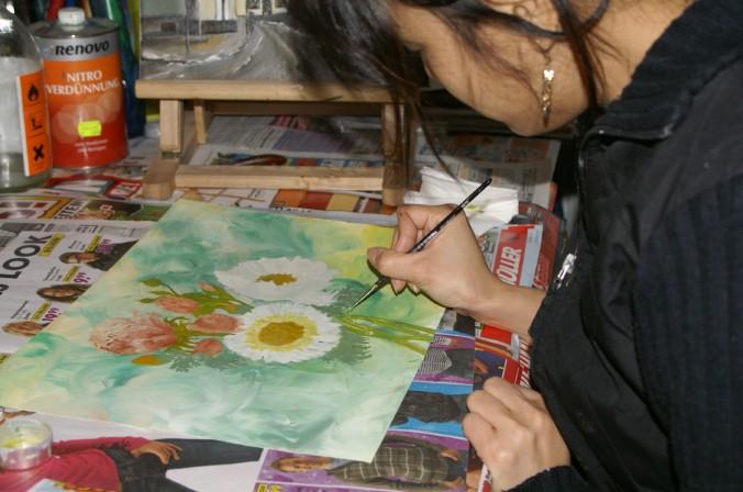 Meine Ex Frau Hang Liebt Die Öl Malerei. Gerade In Den Zeiten, Wo Es  Weniger Im Garten Und Bei Den Blumen Zu Tun Gibt (ihr Zweites Großes Hobby)  Widmet Sie ...